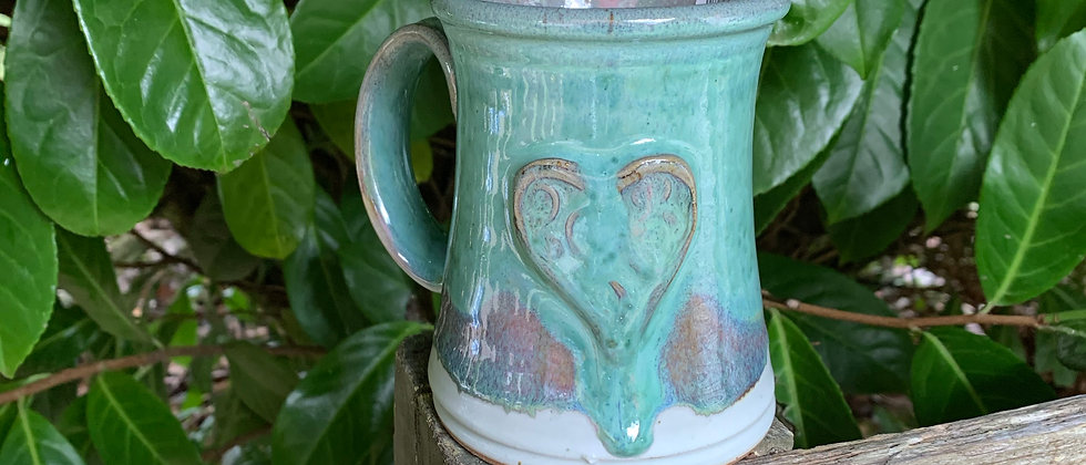 Rabun Thompson Blue Heart Mug