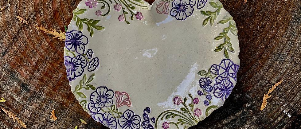 Terri Axness Heart Plate-Medium
