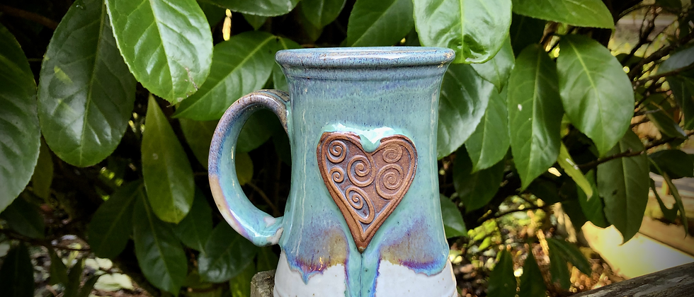 Rabun Thompson Aqua Heart Mug