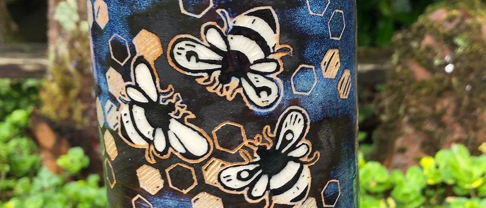 Carolyn Bulkley Bee Bottle Vase