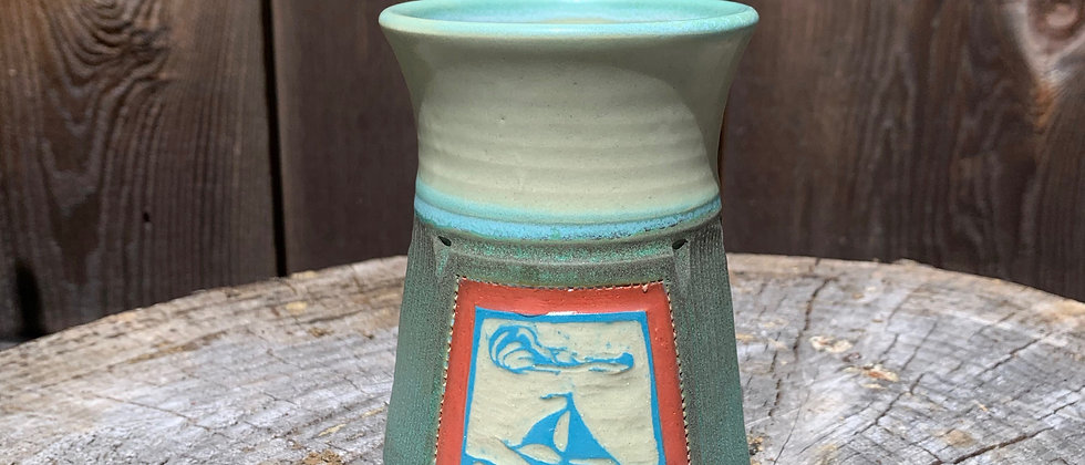Cross Creek Clay Sailboat Mug