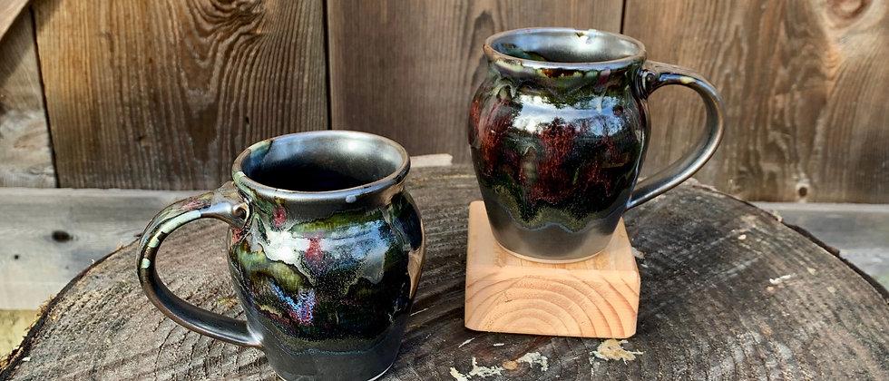 Cascadia Small Round Mug Set - Black Galaxy