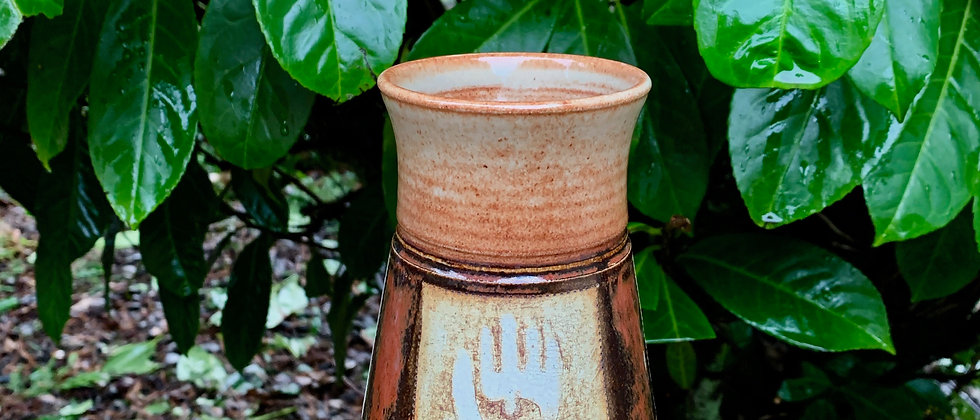 Cross Creek Clay Hand Print Mug #1