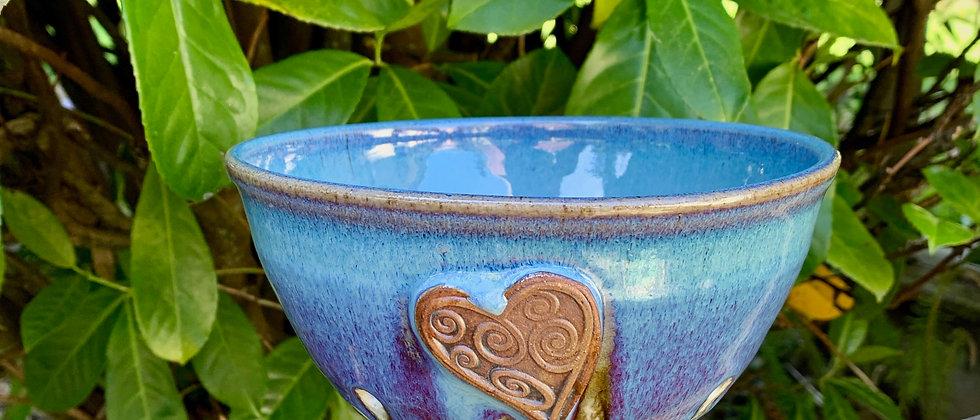 Rabun Thompson Blue Heart Berry Bowl