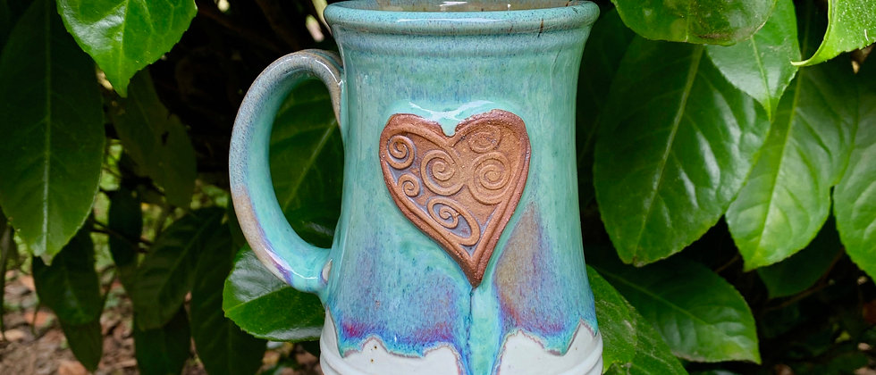 Rabun Heart Mug - Teal