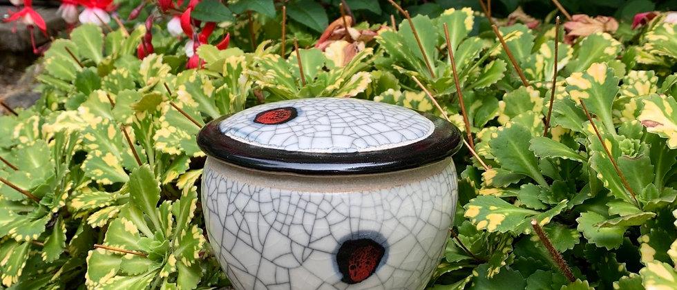 Ray Foster Crackle Lidded Jar #1