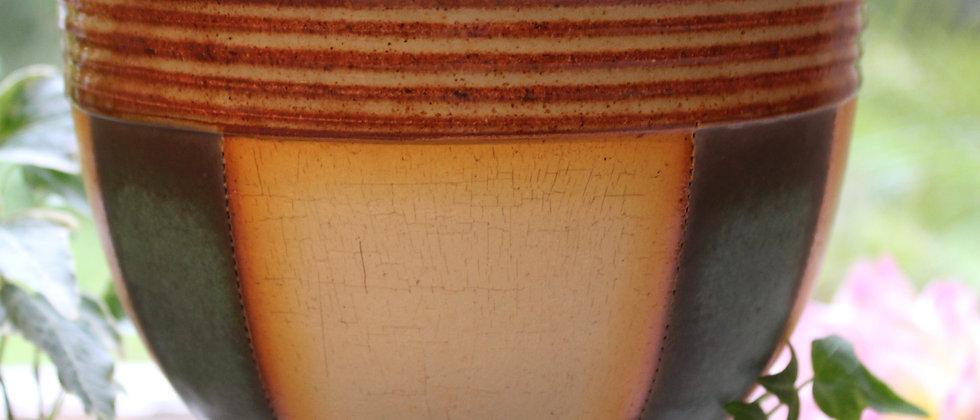 Cross Creek Clay Bowl -Teal Stripe