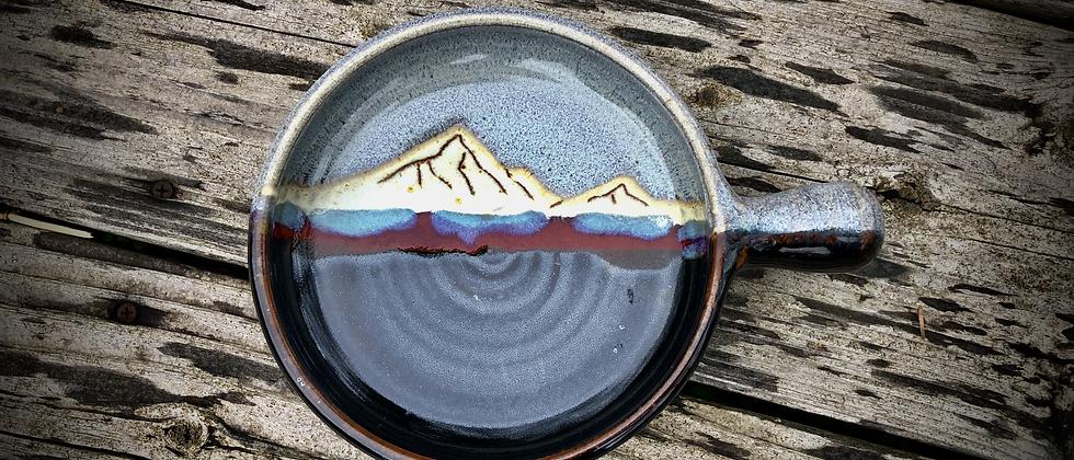 Blue Spruce Pottery Nacho Pan Mountain Obsidian