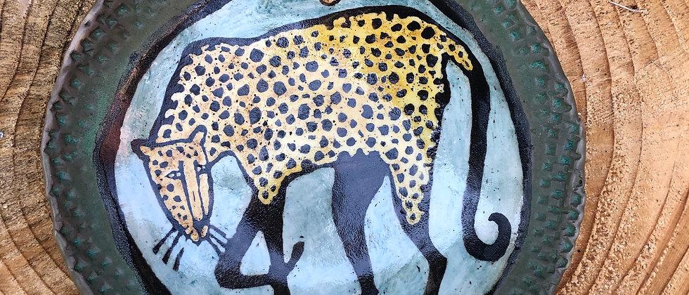 Paula Teplitz Leopard Plate