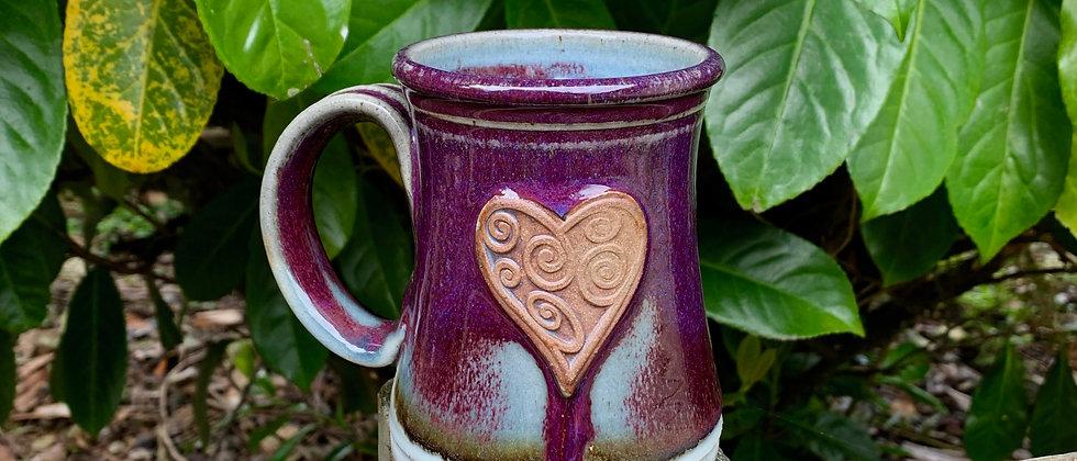 Rabun Thompson Heart Mug - Purple