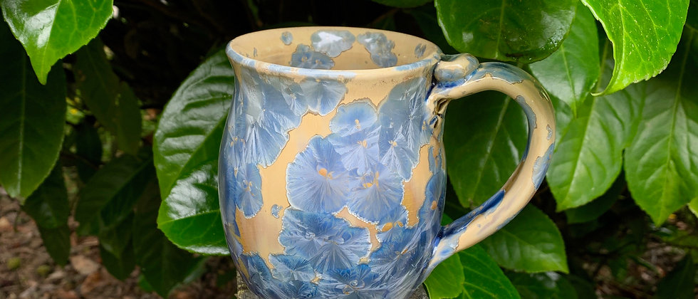 Nelson Crystalline Mug - Blue & Yellow