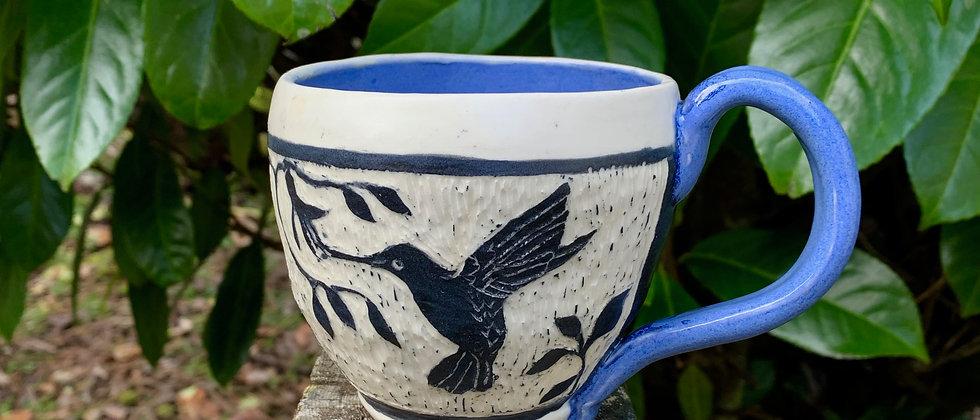 Valerie Baker Sgraffito Hummingbird Mug