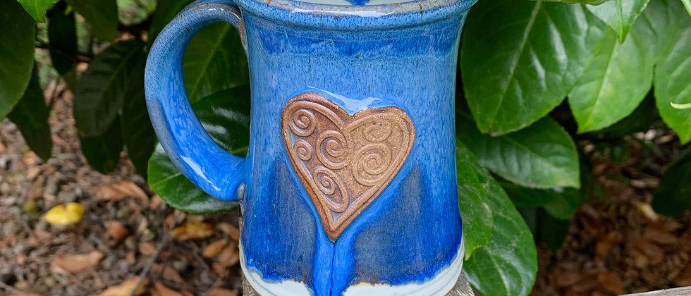 Rabun Heart Mug - Blue