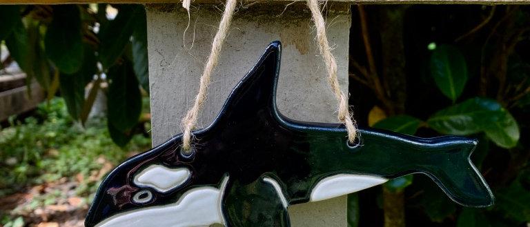 Janicek Pottery Orca Ornament