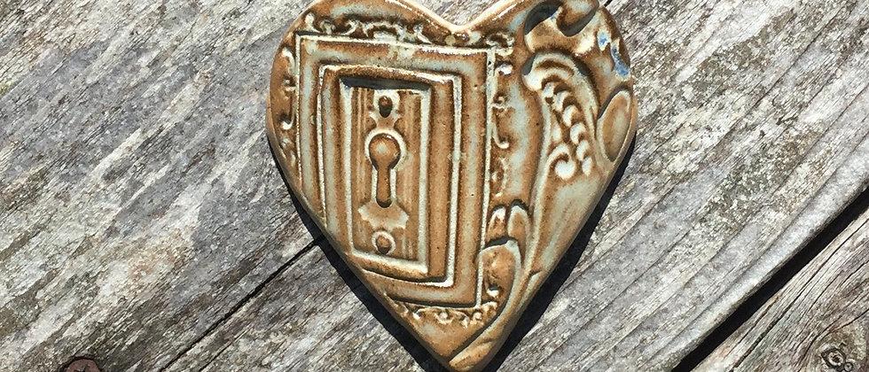 Susan Wheeler Small Wall Pocket Heart #21