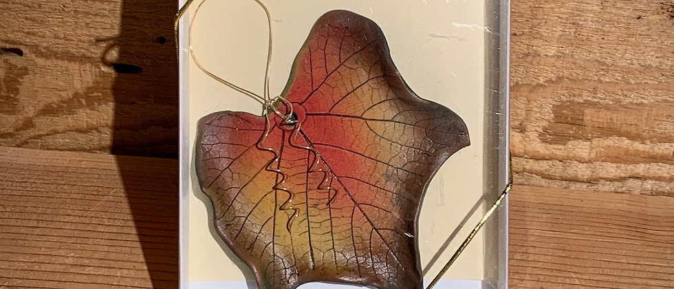 Dorothy Steele Oregon Grape Leaf Ornament #3