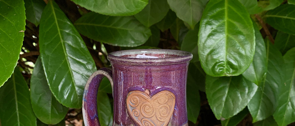 Rabun Thompson Heart Mug-Purple