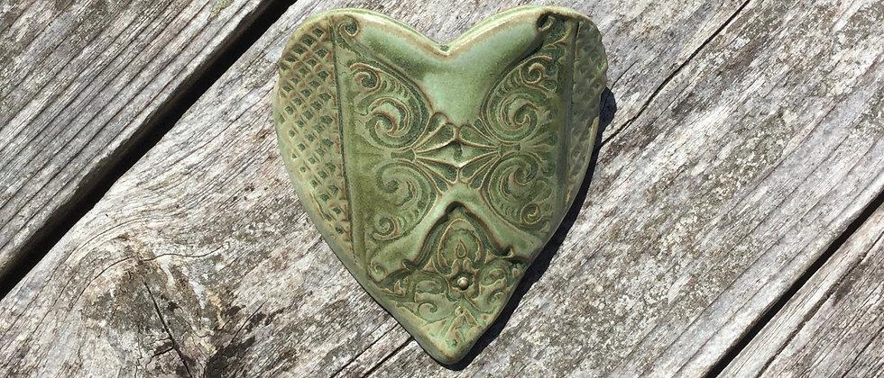 Susan Wheeler Large Wall Pocket Heart #15