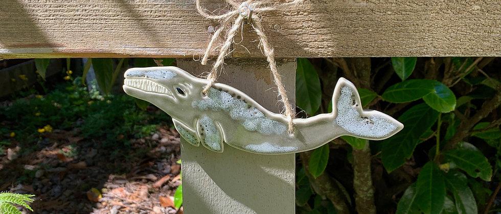 Janicek Pottery Gray Whale Ornament #2