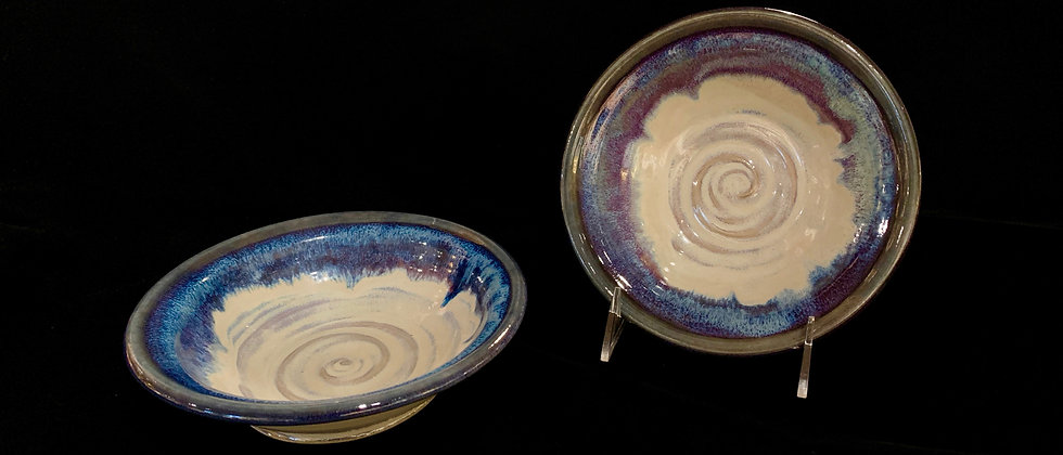 Blue Water Pottery Small Bowl Set
