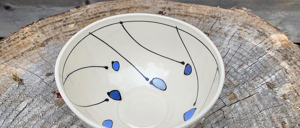 Emily Free Wilson Tall Bowl - Blue