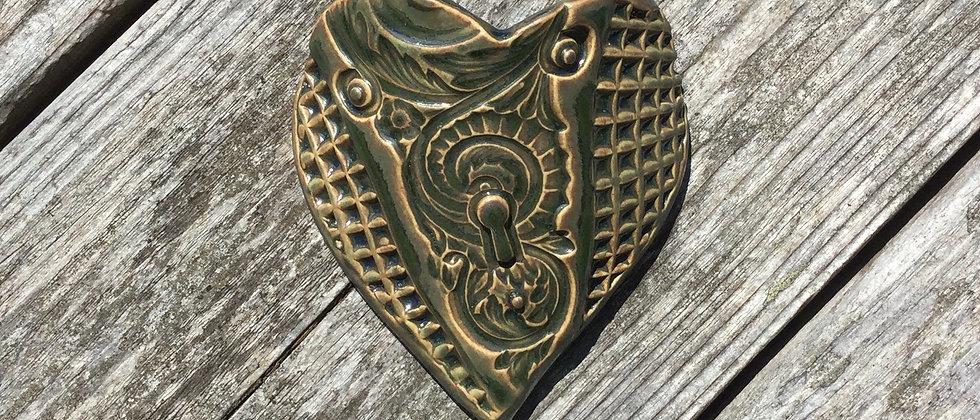 Susan Wheeler Large Wall Pocket Heart #10