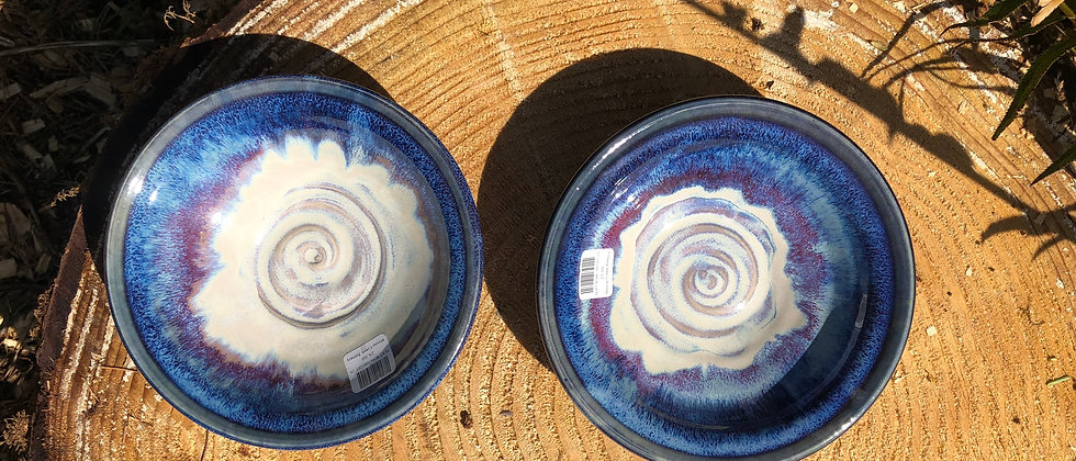 Blue Water Pottery Soup/Cereal Bowls