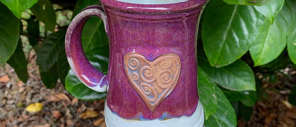 Rabun Heart Mug - Purple