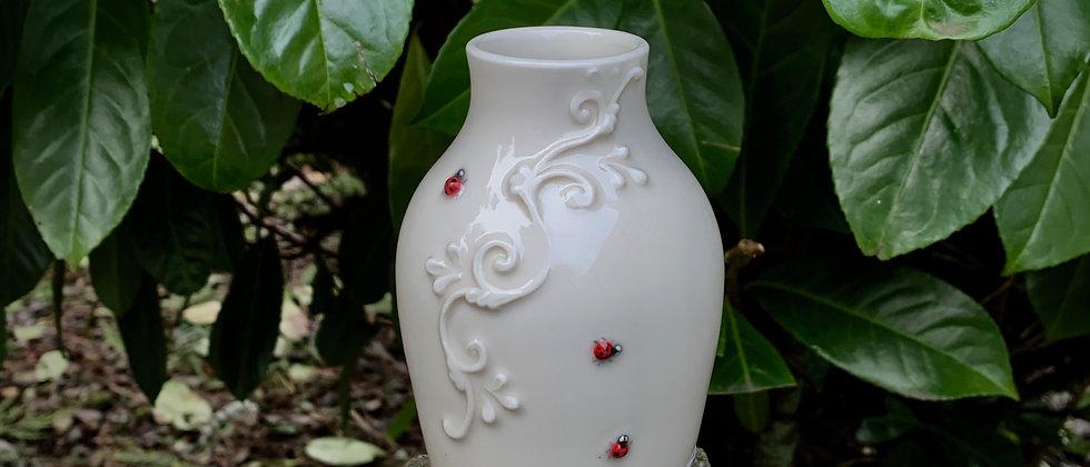JaMpdx Bud Vase with Lady Bugs