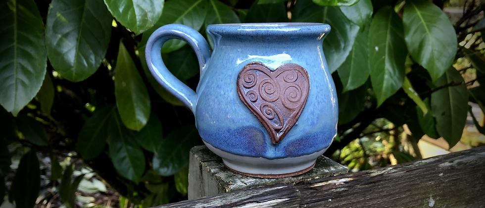 Rabun Thompson Blue Heart Mug