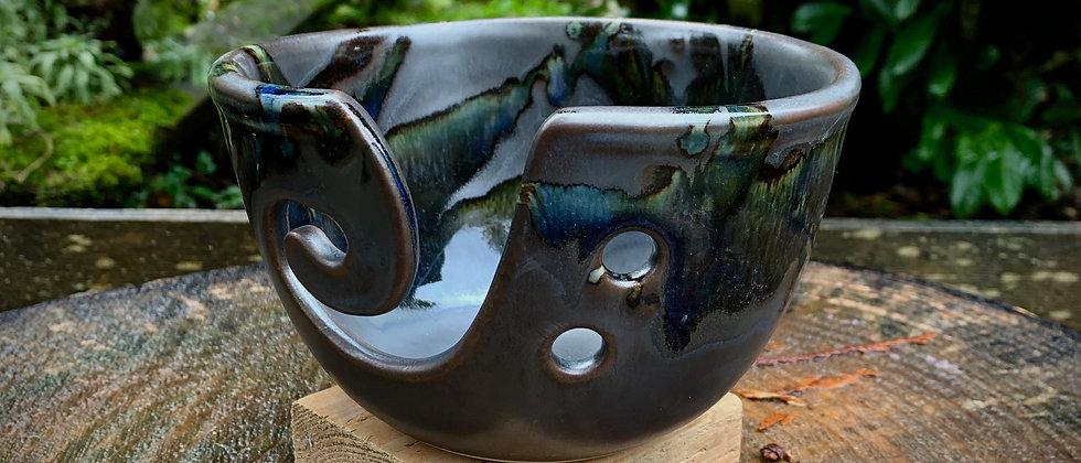 Cascadia Yarn Bowl -Black Galaxy