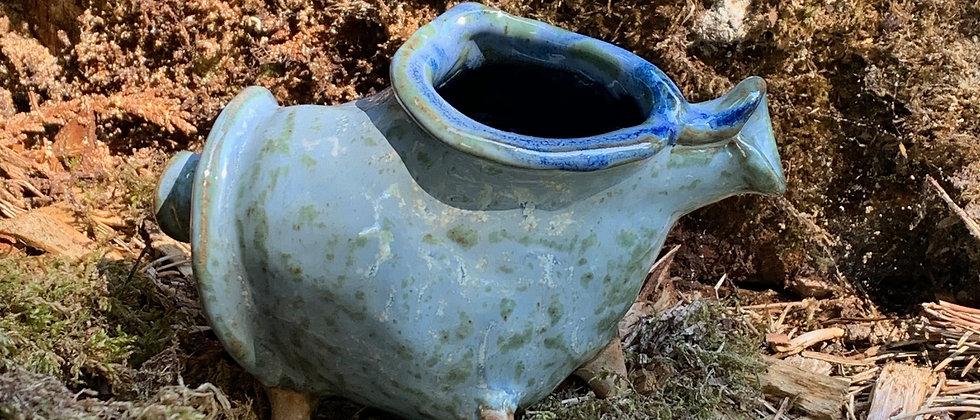 Janet Buskirk Seashell Vase -Blue