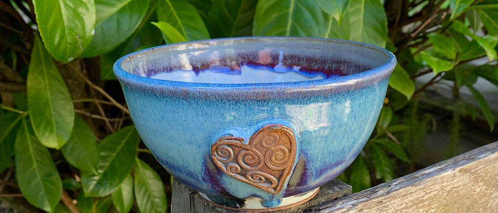 Rabun Thompson Blue Heart Bowl