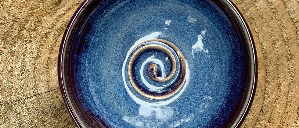 Janet Buskirk Small Blue Bowl