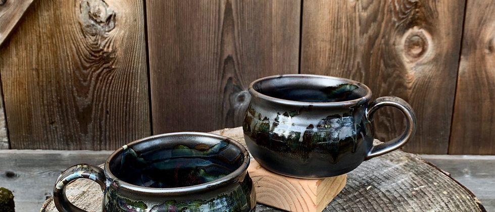 Cascadia Soup Bowl Set - Black Galaxy