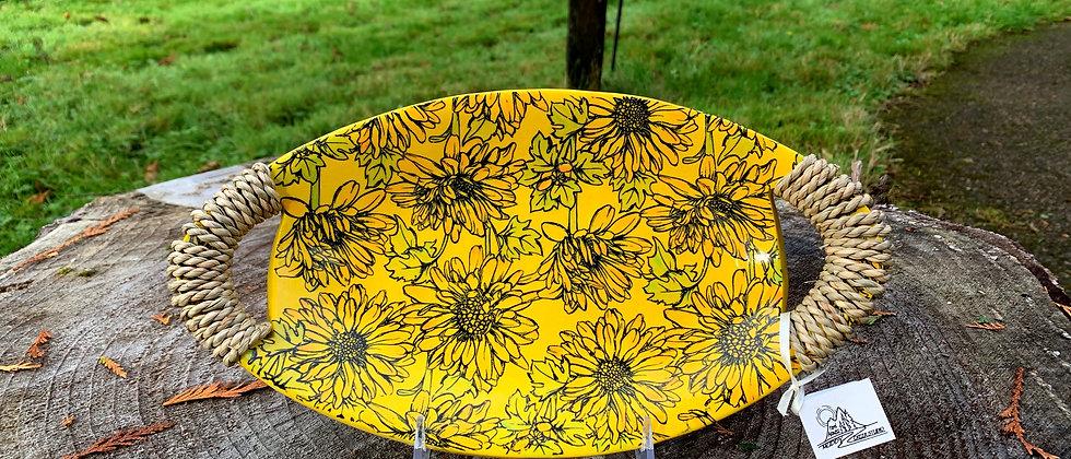 Terri Axness Canoe Tray -Sunflowers