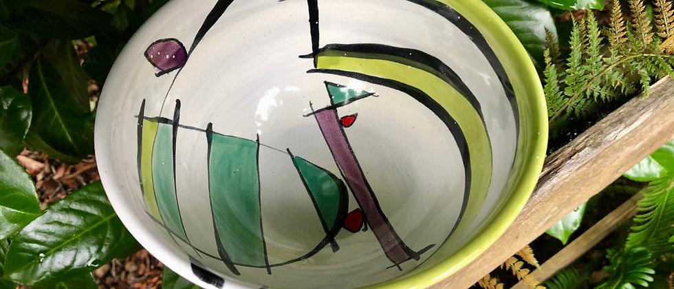 Jim Koudelka Majolica Bowl