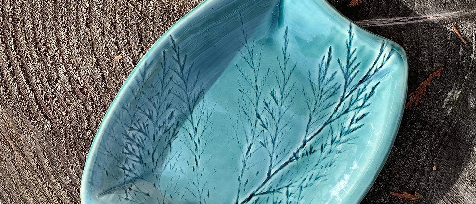 Rebecca Brochu Blue Pine Plate #1