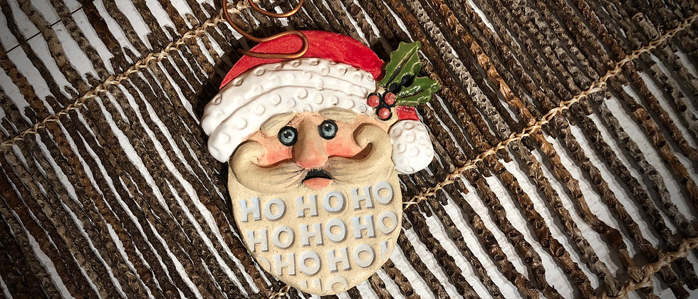 Terri Axness Ho-Ho Santa Ornament