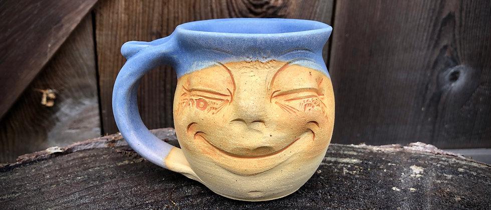 Debrah Wolf Small Face Mug - Blue #1