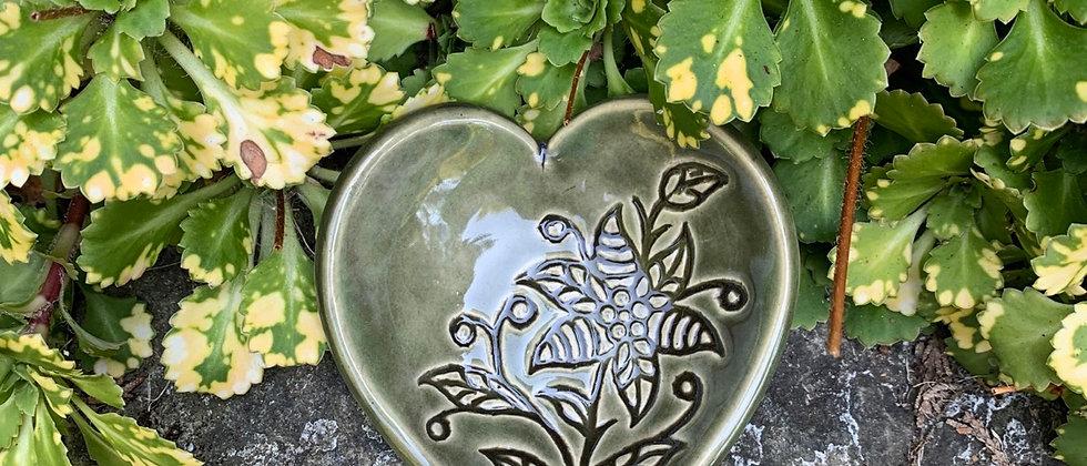 Me...Lo Heart Dish Green