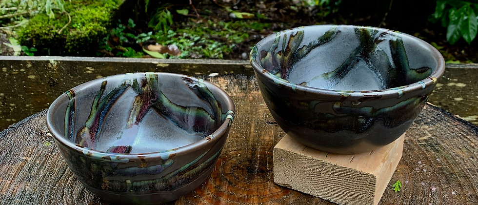 Cascadia Cereal Bowl Set - Black Galaxy