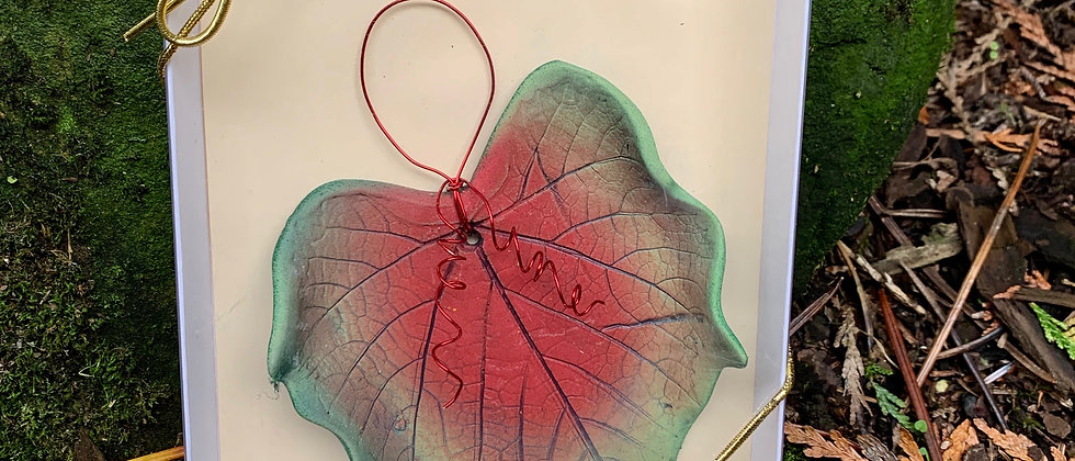 Dorothy Steele Oregon Grape Leaf Ornament #5