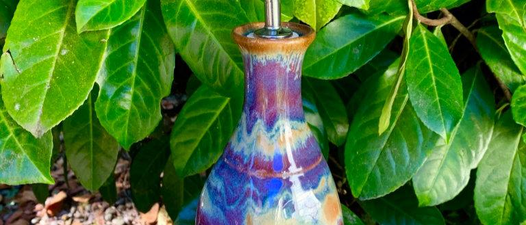 Cascadia Stoneware Oil Bottle - Lavender Sunset