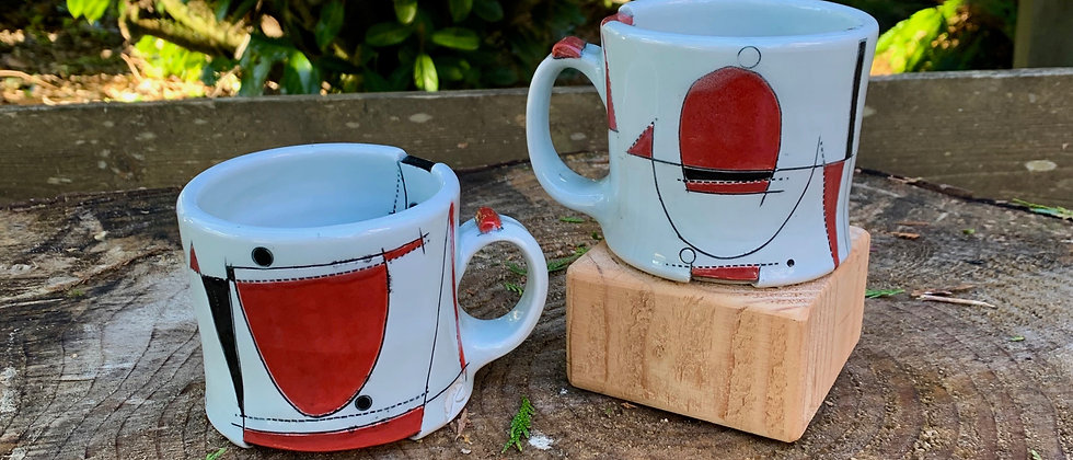 Jim Koudelka Red Mug Set #2