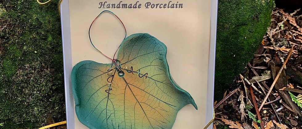 Dorothy Steele Oregon Grape Leaf Ornament #6