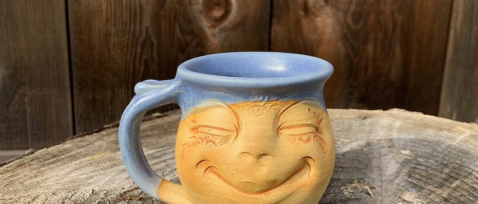 Debrah Wolf Small Face Mug - Blue #2