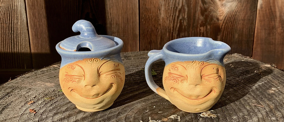 Debrah Wolf Cream & Sugar Bowl Set #3