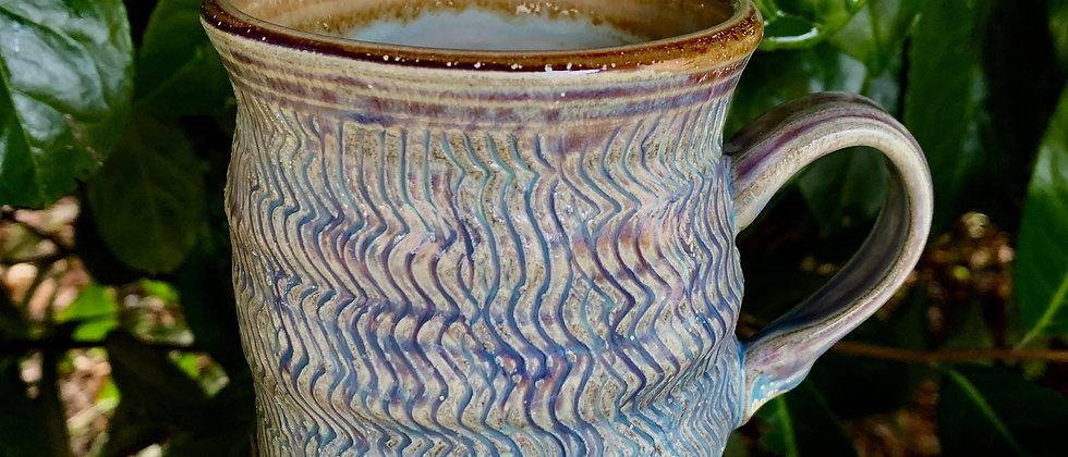 Janet Buskirk Light Purple Striped Mug #2