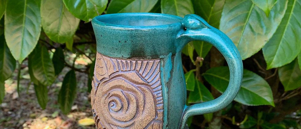 Myriah Tomlinson Teal Rose Mug